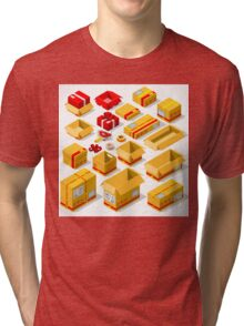 Packaging Objects Isometric Tri-blend T-Shirt
