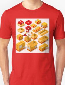 Packaging Objects Isometric Unisex T-Shirt