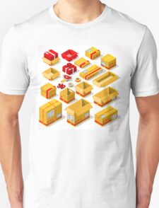 Packaging Objects Isometric T-Shirt