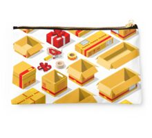 Packaging Objects Isometric Studio Pouch