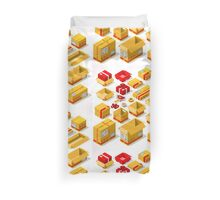 Packaging Objects Isometric Duvet Cover