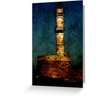 Lighthouse in Chania Greeting Card