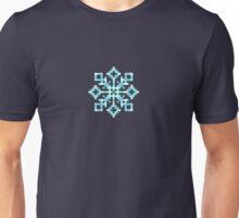 Pixel Snowflake Unisex T-Shirt