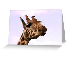 You Were Licking Your Lips And Your Lipstick Shining ... Greeting Card