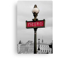 Paris Metro Selective Colour Canvas Print