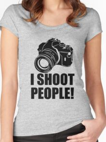 I Shoot Photographer Women's Fitted Scoop T-Shirt