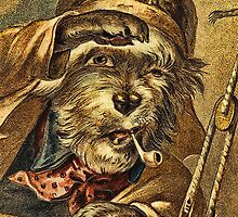 Greeting card - Vintage Dogs 6 by © Kira Bodensted