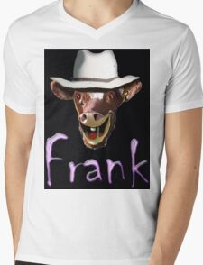 FRANK Mens V-Neck T-Shirt