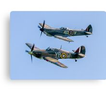 BBMF Hurricane IIc LF363 and Spitfire LF.XVIe TE311 Canvas Print