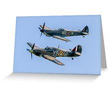 BBMF Hurricane IIc LF363 and Spitfire LF.XVIe TE311 Greeting Card