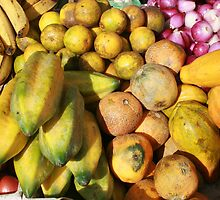 Bananas Melons and Onions by rhamm