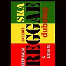 ' Keep Calm & Listen to Reggae'  iPhone / iPod Case / Black by Love Through The Lens