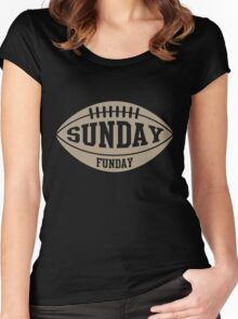 Sunday Funday Football Women's Fitted Scoop T-Shirt