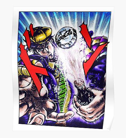 Jojo's Bizarre Adventure - Joseph Joestar Coca Cola attack Poster