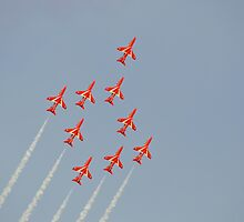 The Red Arrows ( Gripen Formation ) by mike  jordan.