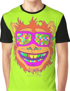A funny monkey face colored glasses.  Graphic T-Shirt