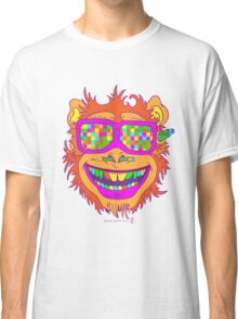 A funny monkey face colored glasses.  Classic T-Shirt