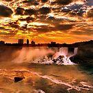 Sunset at Niagara Falls by Steve Ivanov