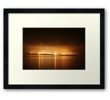 ' The Sky is on Fire ' Framed Print
