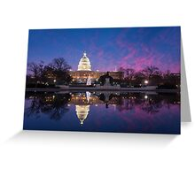 Washington DC United States Capitol Building Holiday Reflections Greeting Card