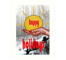 HAPPY HOLIDAYS 26 Art Print