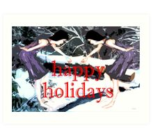 HAPPY HOLIDAYS 30 Art Print