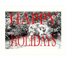 HAPPY HOLIDAYS 35 Art Print