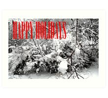 HAPPY HOLIDAYS 38 Art Print