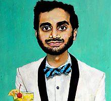 Aziz Ansari by Jordan Soliz