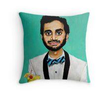 Aziz Ansari Throw Pillow