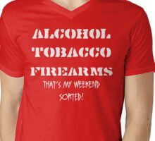 Alcohol, Tobacco & Firearms Mens V-Neck T-Shirt