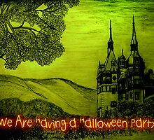 Peles Castle A Halloween invitation to a party by Dennis Melling