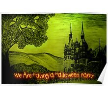 Peles Castle A Halloween invitation to a party Poster