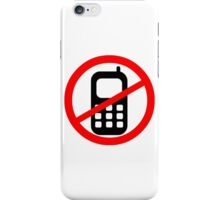 Mobile Phone Ban iPhone Case/Skin