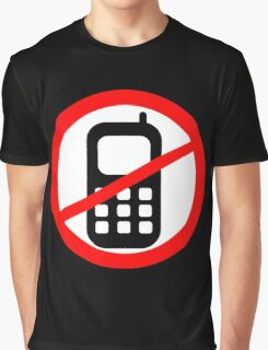 Mobile Phone Ban Graphic T-Shirt