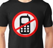 Mobile Phone Ban Unisex T-Shirt
