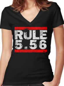 Rule 5.56 Women's Fitted V-Neck T-Shirt