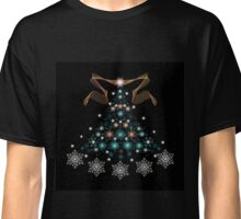 Christmas Tree on Black Background Classic T-Shirt