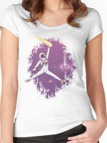 Space Jam Women's Fitted Scoop T-Shirt