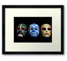 3 ninjas masks Framed Print