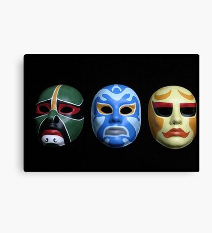 3 ninjas masks Canvas Print