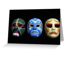 3 ninjas masks Greeting Card