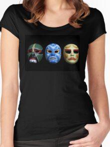 3 ninjas masks Women's Fitted Scoop T-Shirt