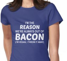 Fuck Bacon Womens Fitted T-Shirt