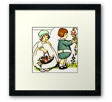 2 Kids Framed Print
