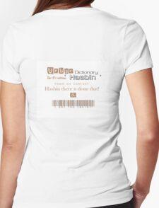 Urban Slang ' Hasbin ' Womens Fitted T-Shirt
