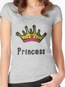 Funny Princess Shirt or Sticker for Girls and Women Women's Fitted Scoop T-Shirt