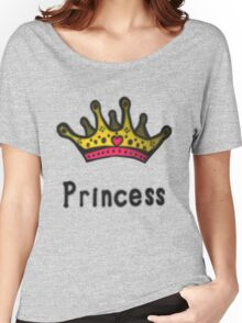 Funny Princess Shirt or Sticker for Girls and Women Women's Relaxed Fit T-Shirt
