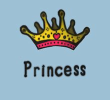 Funny Princess Shirt or Sticker for Girls and Women Womens Fitted T-Shirt