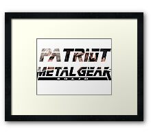 Metal gear solid PATRIOT-tshirt Framed Print